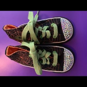 Custom bling Halloween converse shoes